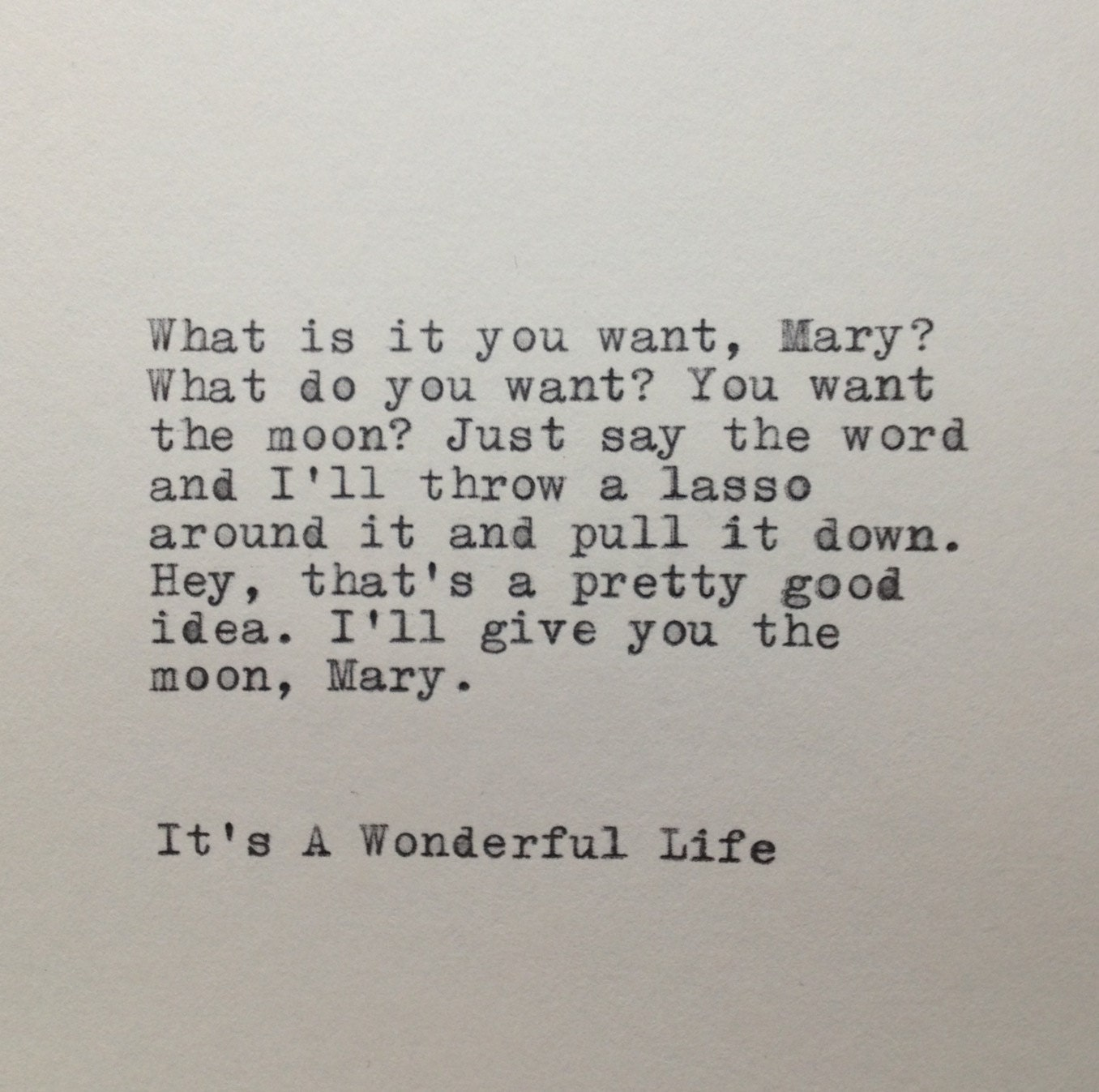 Wonderful Life Quotes Prepossessing It's A Wonderful Life Quote Typed On Typewriter