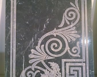 Black Negero Marquina Marble marble mural inlay