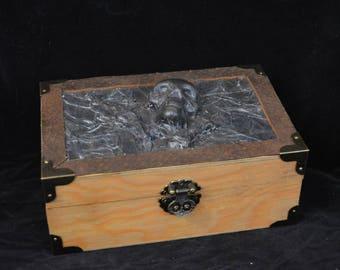 amazing skull pirate medieval wooden box coffre mdival tte de mort pirate with chaise tete de mort - Tte De Mort Pirate