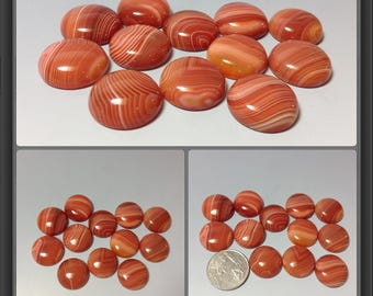Red Agate with line cabochon 20mm