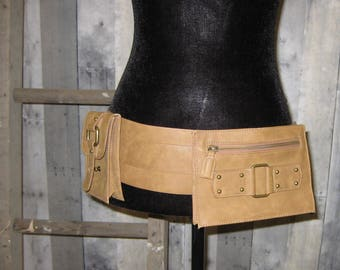 Leather Hand Made Stylish Fanny Pack/ Hip Pack/ Belt - Lambskin