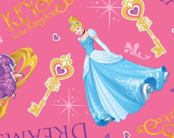 Disney's Princesses on Pink, Gateway to dreams, with Cinderella, Rapunzel and sleeping beauty, yard