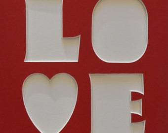 """LOVE Letters & Heart as 8""""x10"""" Custom Name Sign"""