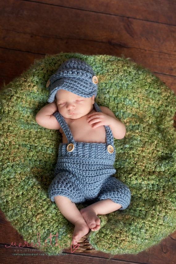 Casquillo de Newsboy Oliver con ganchillo bebé pantalones