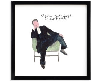 """When Your Good, Lawyer Limited Edition Archival Prints by Simon Schneiderman Framed 18"""" x 18"""""""