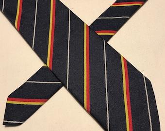 Vintage black,red,gold polyester striped tie
