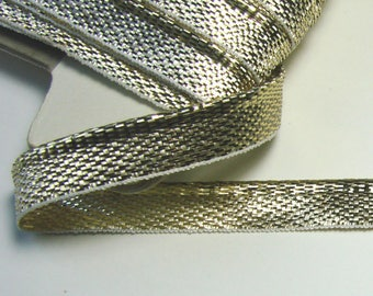 Ribbon piping, 10 mm, lame gold soft, the meter.