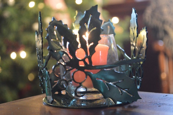 Holly Votive Candle Holders