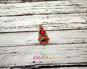 Bindi face jewels/Red and orange bindi/reusable bindi/face gems/Swarovski bindi/wedding bindiBindi Jewelry/face bindi/boho/Belly Dance/ekka