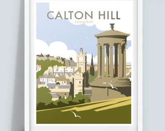 Calton Hill, Edinburgh, Travel poster print