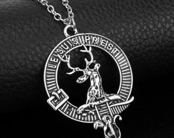 Je Suis Prest Outlander Inspired Deer Pendant Necklace