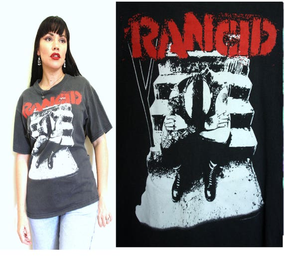 Holes 90s 1980s Grunge Vintage Worn faded Thread Punk Rock Shirt AVENUES Festival ALLEYWAYS and T bt13 Band RANCID Bare Rock Music awx7qC6Zq