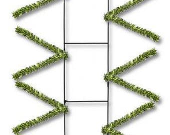 22'' metallic green Rail Form, Rail Form, Rail Forms, green centerpiece Frame, lime green centerpiece base, lime swag Forms, Wreath Supplies