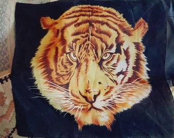 Vintage 80's Tiger wall hanging/scarf