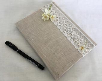 Fabric-covered Plain Notebook, Bullet Journal, Sketchbook