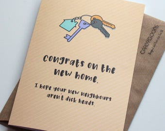 Funny New Home Card - Congrats on the new home