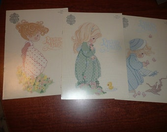 Vintage Precious Moments Cross Stitch Books