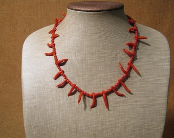 Amazing Antique Victorian Coral Necklace.