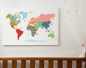 Girls room decor world map poster wm305a pink world map world map poster large world map print kids world map with countries world gumiabroncs Choice Image