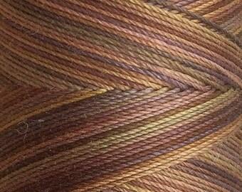 No.01 Chocolate, Hand Dyed Cotton Machine Thread, Individual Spool 150m, Machine Embroidery, machine Quilting