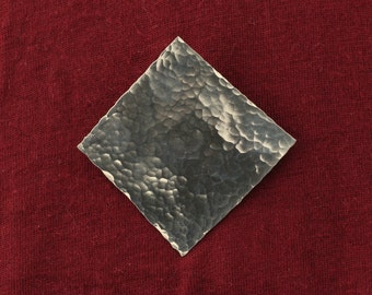 Sterling silver hammered texture brooch