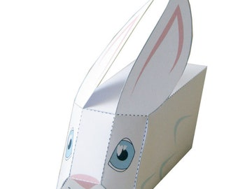 DIY Paper Easter Bunny, Papercraft Easter Rabbit, Papertoy Bunny Rabbit