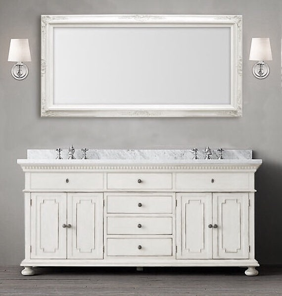 MANY SIZES AVAILABLE White Framed Bathroom Mirror Framed