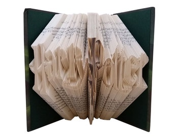 Harry Potter Folded Book - Gift For Harry Potter Fan - Harry Potter Gift - Friend and Coworker - Harry Potter Collectibles - Hogwarts