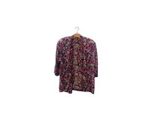 Jaeger Petal Jacket | Floral | Silk Blend
