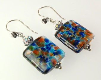 Artisan - Sterling Silver Lampwork Earrings E004