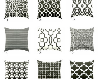 Black and white pillow covers, Pillows  Cushion Covers , Decorative pillow , throw pillow , geometric pillow