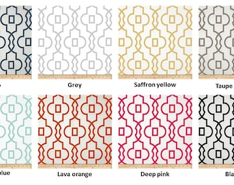 "Pair of 25"" wide Premier Print Bordeaux collection curtains panels drapes 25x63"" 25x84"" 25x96"" 25x108"" navy grey mint salmon"