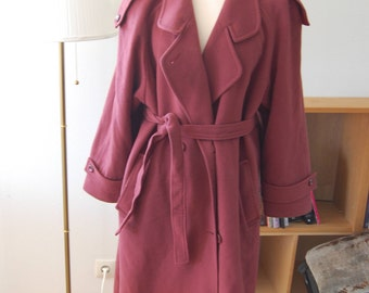 Vintage dusty pink wool  coat