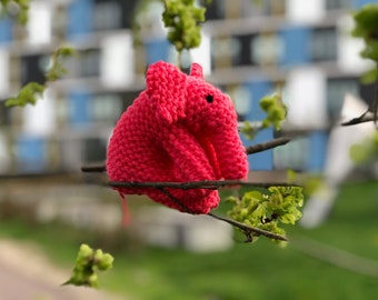 Small Stuffed Knit Elephant