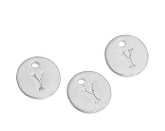 Letter Y - 12mm pendant silver