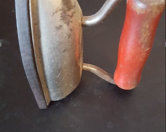 Vinatge Toy Iron with wooden handle