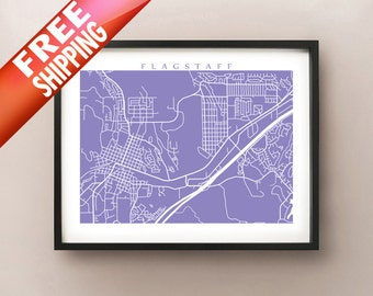 Flagstaff Map Print - Arizona Poster