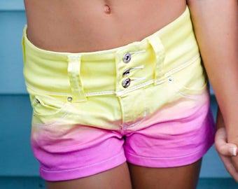 Pink Lemonade Ombre Shorts