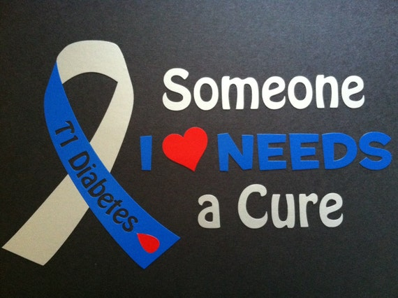 Type 1 diabetes decals support diabetes car window sticker