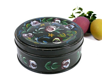Vintage tin - Metal tin box - Vintage tin - Cookie tin box - Decorative kitchen tin - Vintage Polish tin -