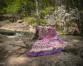 Instant Download- Crochet Pattern- Serenity Blankets