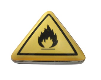 Flammable Warning Sign Magnet