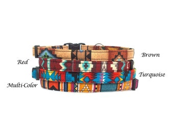 Southwest Inspired - Safety Breakaway Cat or Kitten Collars - Choose from 4 patterns!