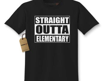Straight Outta Elementary Kids T-shirt