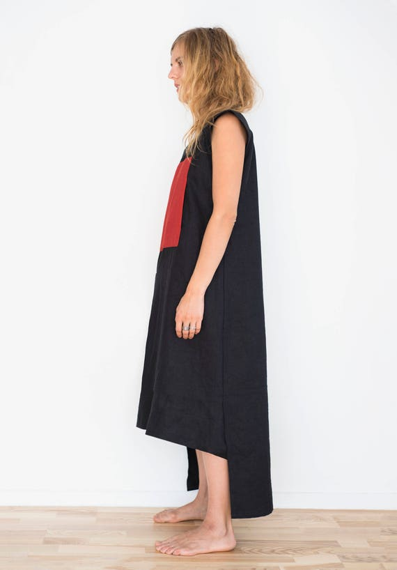 dress Long square red and with with pockets red black dress midi dress mini a dress zIrzwUq
