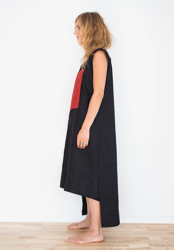 black dress mini with pockets midi Long and a square dress with dress dress red red vTSxqxXzH