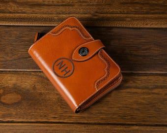 Wallets, zipper pockets, minimalist wallet, leather wallet, Coin pocket wallet,Card wallet, women wallet, Red leather wallet,Mini Clutch,
