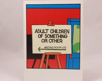Vintage 1994 Funny Greeting Card by OZ. 1 Card and 1 Envelope included