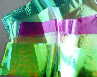 Iridescent Dichroic films for polymer clay applications