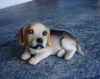 resin BEAGGLE Vintage puppy dog statue figurine